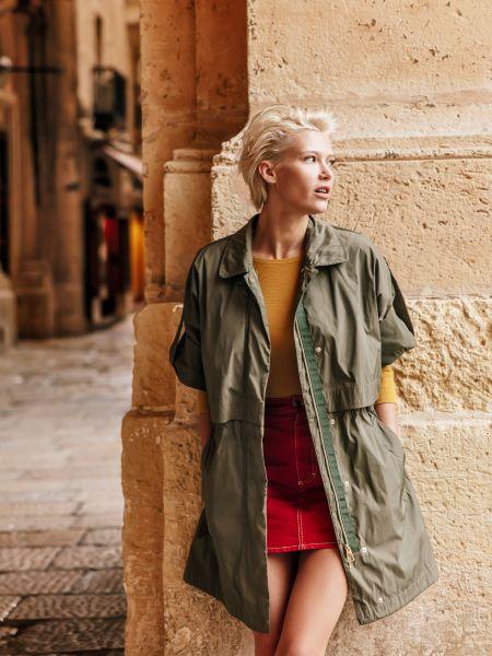 Повседневное пальто с капюшоном Geox