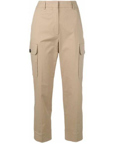 Укороченные брюки карго с завышенной талией Incotex