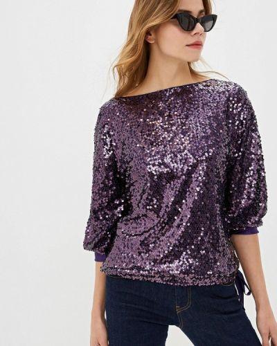 Блузка с коротким рукавом осенняя фиолетовый Lusio