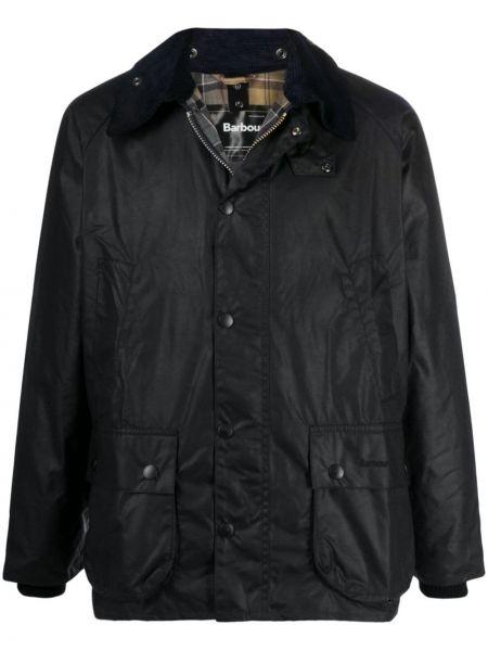 Брендовая синяя куртка на молнии Barbour