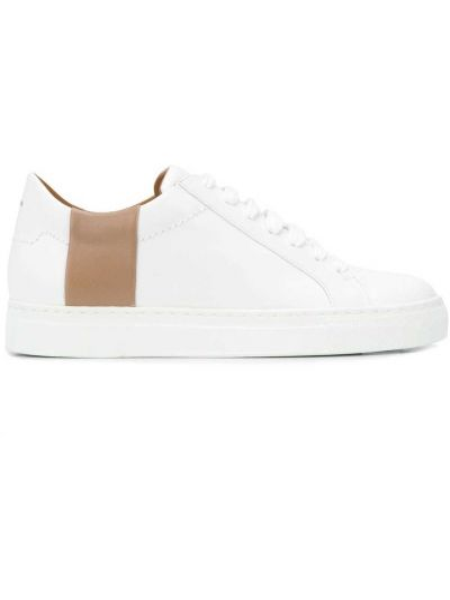 Skórzane sneakersy białe limonka Joseph