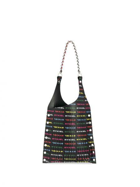 Czarna torebka na łańcuszku skórzana ciążowa Sonia Rykiel