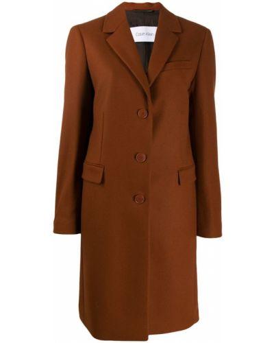 Однобортное шерстяное пальто Calvin Klein