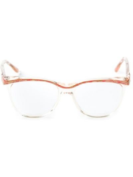 Złote oprawka do okularów Yves Saint Laurent Pre-owned