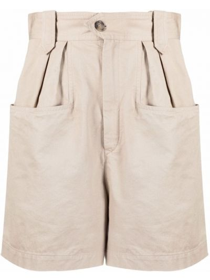 Бежевые шорты с карманами Isabel Marant étoile