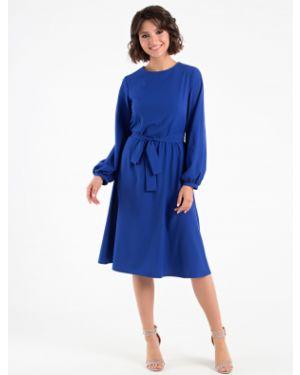 Платье миди на пуговицах с поясом Mariko