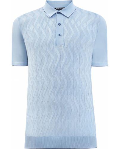 Облегающая хлопковая футболка на пуговицах Bertolo Cashmere
