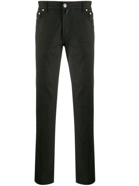 Зауженные брюки на пуговицах с карманами бязевые Borrelli