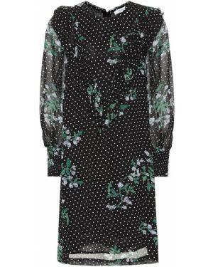 Платье мини с цветочным принтом спортивное Ganni