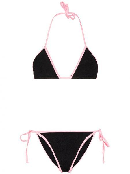 Пляжные нейлоновые розовые бикини Hunza G