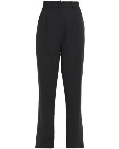 Шерстяные черные брюки в полоску Ronny Kobo
