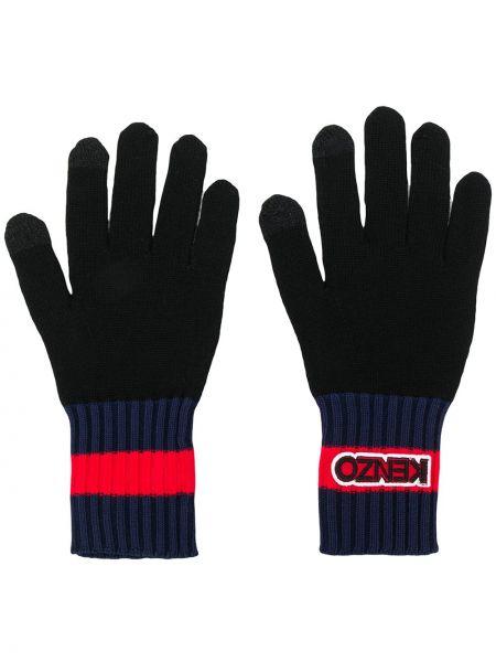 Ciepłe czarne rękawiczki wełniane Kenzo