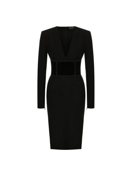 Платье с поясом с V-образным вырезом осеннее Tom Ford