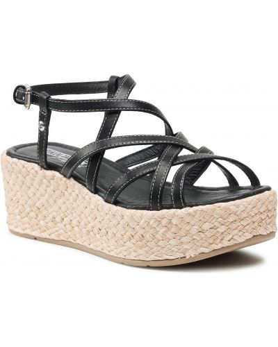 Sandały espadryle - czarne Pikolinos