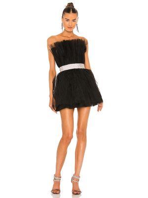 Платье мини с декольте - черное Bronx And Banco