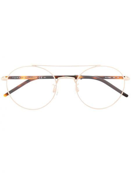 Желтые очки круглые прозрачные Tommy Hilfiger