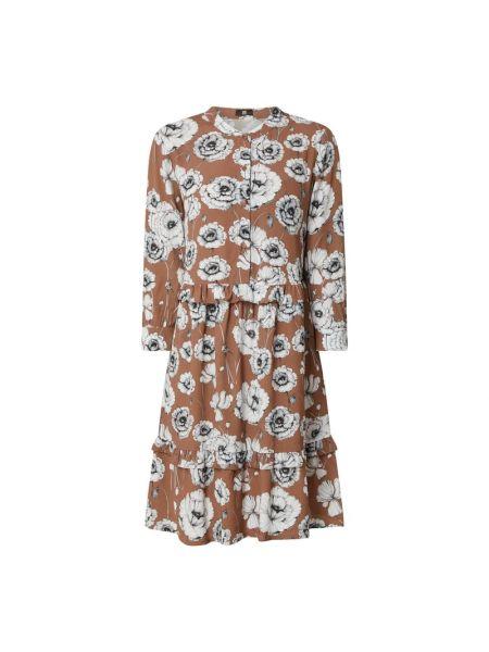 Sukienka rozkloszowana z falbanami z wiskozy Riani