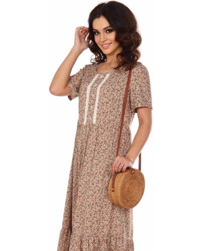 Свободное повседневное платье свободного кроя серенада