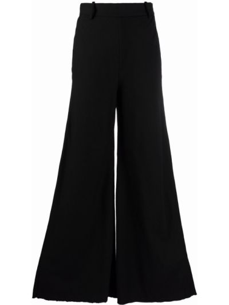 Черные брюки с завышенной талией Masnada