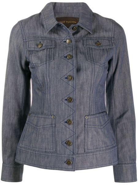 Приталенная синяя джинсовая куртка с манжетами на пуговицах Louis Vuitton Pre-owned