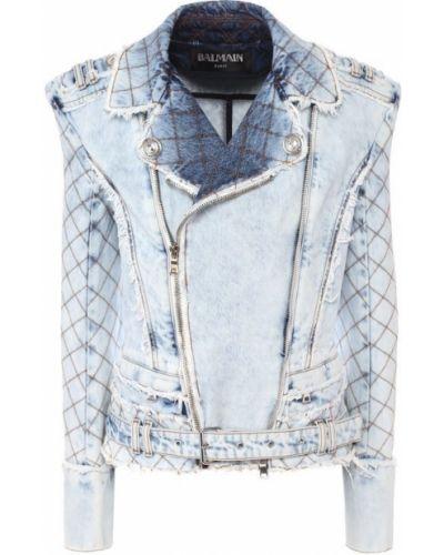 Джинсовая куртка хлопковая белая Balmain