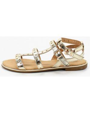 Кожаные сандалии золотые Paolo Conte