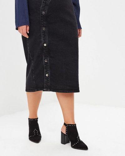 Джинсовая юбка серая Lost Ink Plus