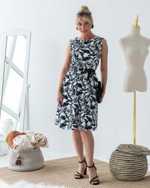 Летнее платье с поясом на молнии Eliseeva Olesya