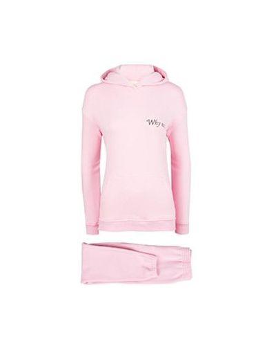 Костюмный хлопковый розовый спортивный костюм Seven Lab