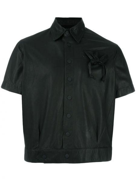 Черная кожаная куртка Ktz