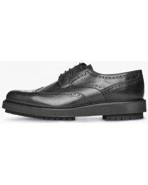 Кожаные туфли - черные Campione