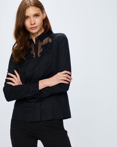 Блузка с длинным рукавом на пуговицах однотонная Guess Jeans