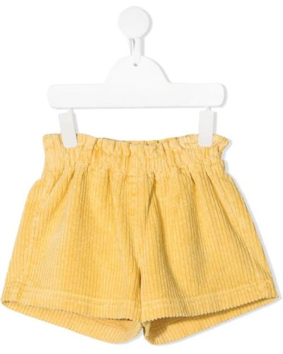 Желтые шорты вельветовые свободного кроя Il Gufo