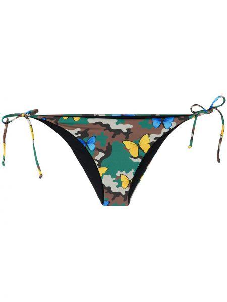 Пляжные коричневые бикини с завязками с нашивками Mc2 Saint Barth