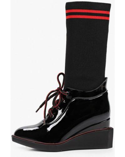 Черные лаковые кожаные ботинки Dino Ricci