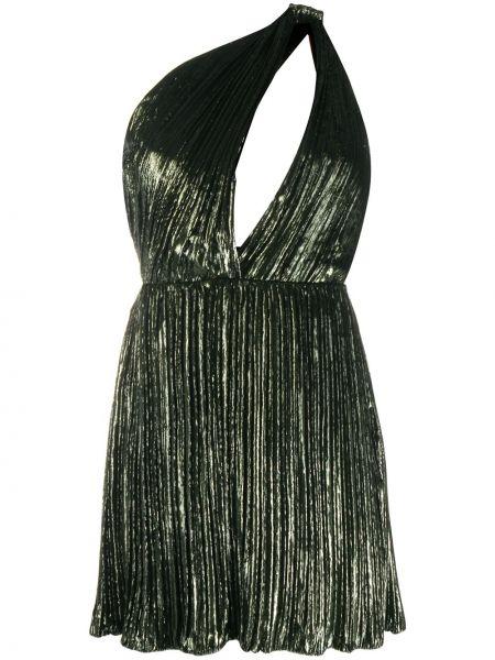 Платье с поясом на одно плечо с рукавами Saint Laurent