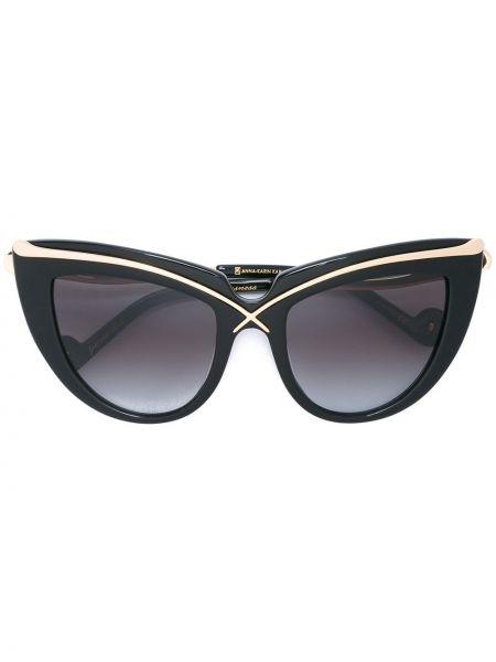 Черные солнцезащитные очки металлические Anna Karin Karlsson