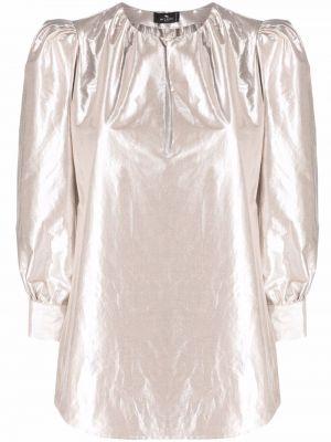 Bluzka srebrna Etro