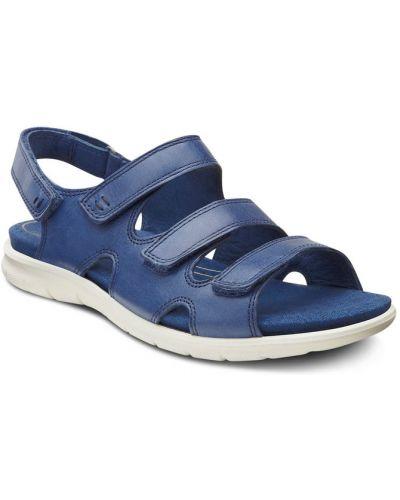 Сандалии на липучках на каблуке Ecco