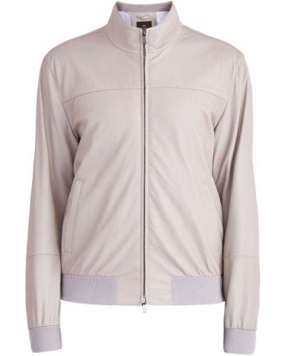 Кожаная куртка с манжетами на молнии Enrico Mandelli