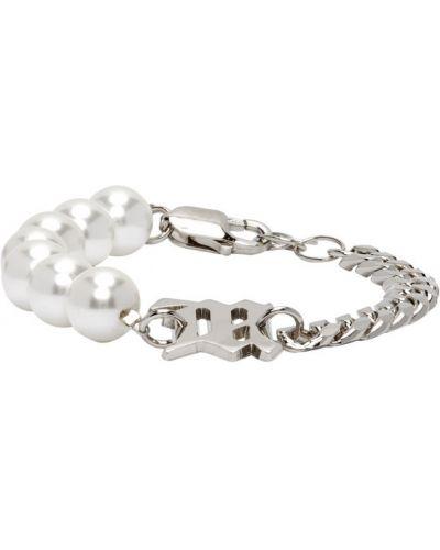 Klasyczna bransoletka perły srebrna Misbhv