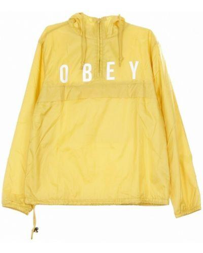 Żółta wiatrówka Obey