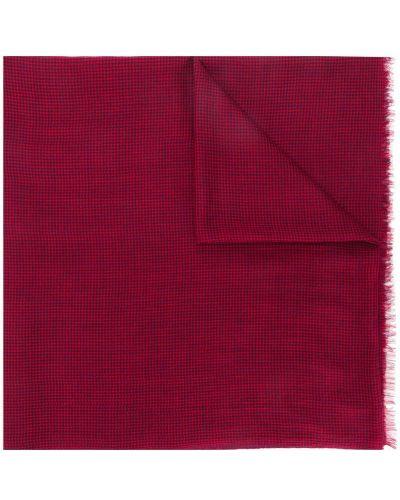 Красный шерстяной шарф в клетку Isabel Marant