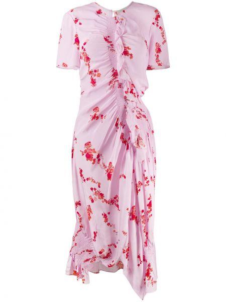 Асимметричное розовое платье Preen Line