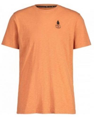 Pomarańczowy t-shirt Maloja