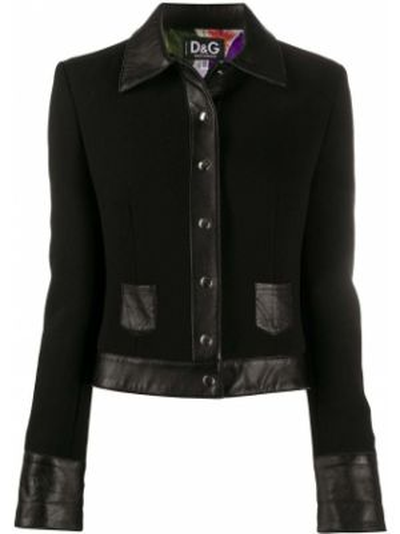 Классическая прямая черная куртка на пуговицах Dolce & Gabbana Pre-owned