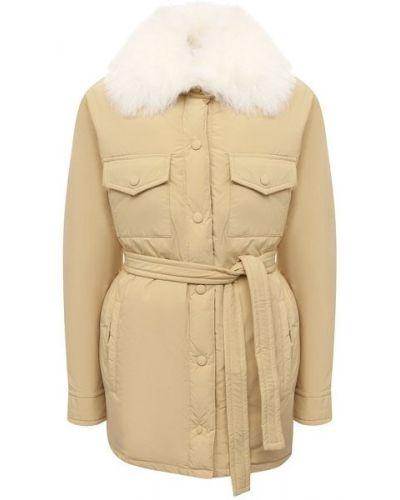Пуховая куртка - желтая Yves Salomon