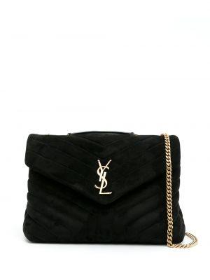 Czarna torba na ramię skórzana Saint Laurent