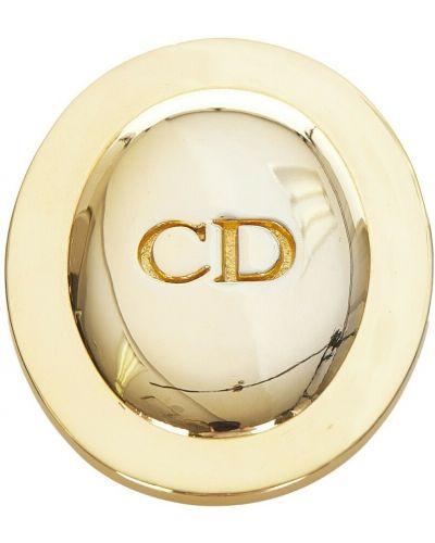 Żółta złota broszka Dior Vintage