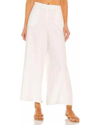 Льняные белые брюки с карманами Show Me Your Mumu
